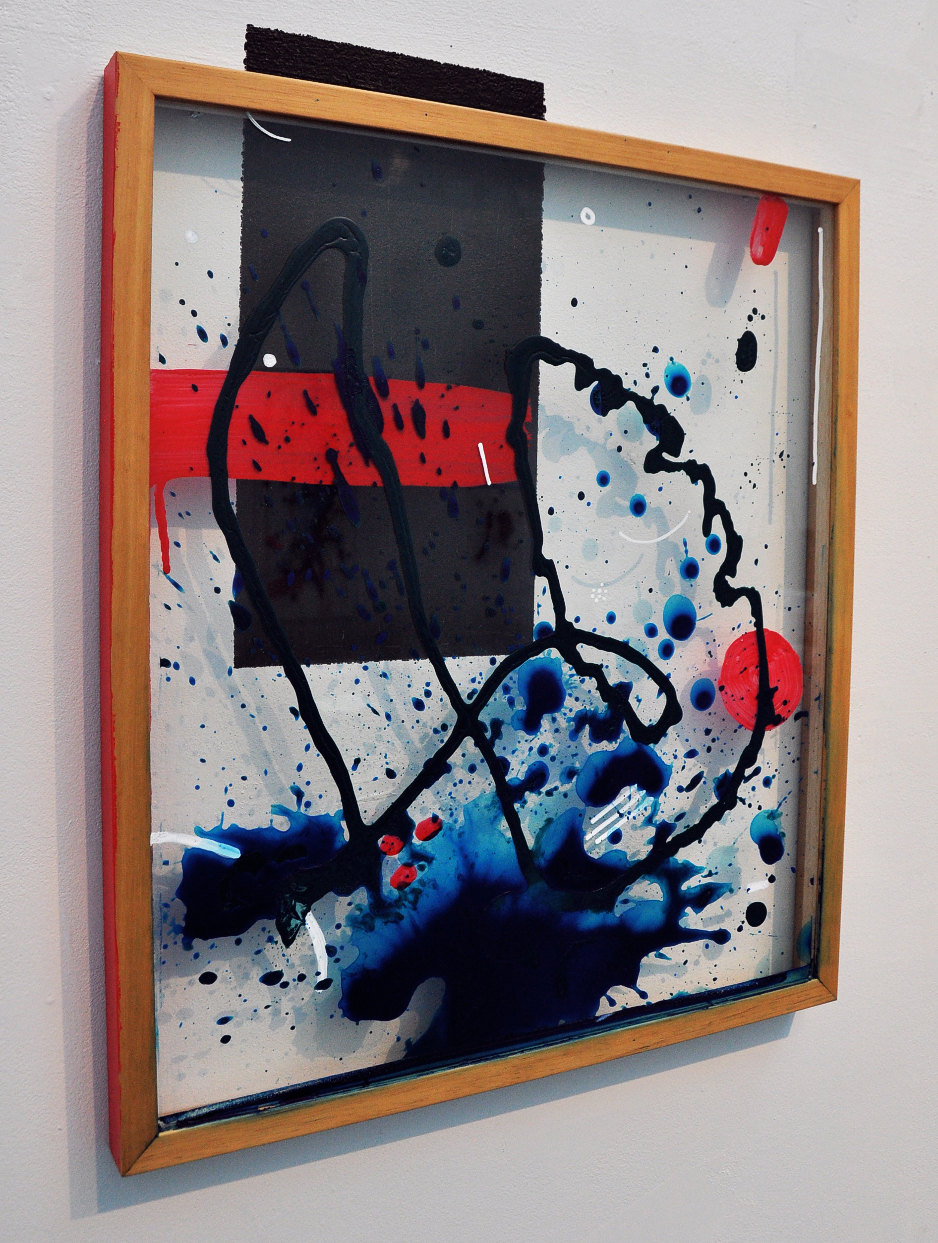 Sonia louise davis sound gestures international studio sonia louise davis untitled 2018 acrylic on found frame with wall painting 24 36 in 6096 9144 cm jeuxipadfo Images