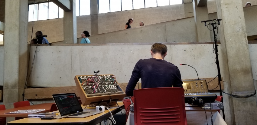 A sound installation for Hill Hall at the Rutgers Campus in Newark.